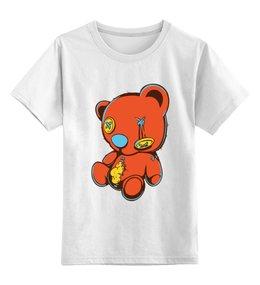 """Детская футболка классическая унисекс """"Dead teddy bear"""" - игрушка, медведь, прикол, юмор, тедди"""