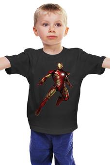 """Детская футболка классическая унисекс """"железный человек"""" - комиксы, марвел, железный человек, iron man, супер герой"""