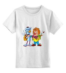 """Детская футболка классическая унисекс """"Карандаш и Самоделкин"""" - рисунок, мультяшки, карандаш, самоделкин"""