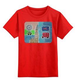 """Детская футболка классическая унисекс """"Лондон"""" - лондон"""