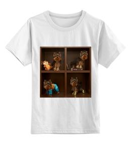 """Детская футболка классическая унисекс """"4 йорика"""" - питомцы, игрушки, собачки, йорик, йоркширтерьер, питомец"""