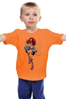 """Детская футболка классическая унисекс """"Монстр хай"""" - для девочки, школа монстров, футболистка"""