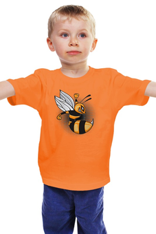 """Детская футболка классическая унисекс """"Злая пчелка"""" - пчела"""