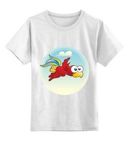 """Детская футболка классическая унисекс """"Попугай Кеша"""" - птица, рисунок, детский, попугай"""