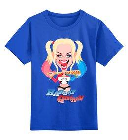"""Детская футболка классическая унисекс """"Harley Quinn"""" - харли квинн, dc комиксы, суперзлодейка, отряд самоубийц, с битой"""