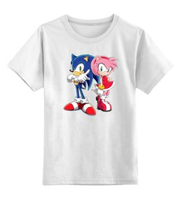 """Детская футболка классическая унисекс """"Sonic Amy"""" - sonic, еж соник, hedgehog, amy, соник"""