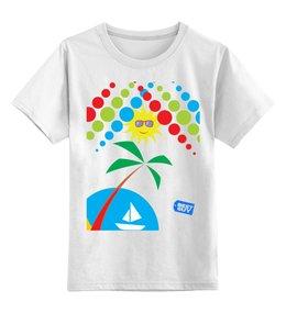 """Детская футболка классическая унисекс """"summer hit"""" - лето, отдых, пляж, жара, тусовка"""