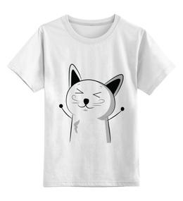 """Детская футболка классическая унисекс """"Счастливый Котэ"""" - я люблю"""