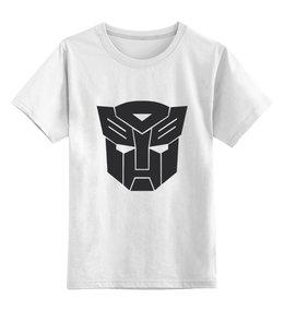 """Детская футболка классическая унисекс """"Автоботы"""" - transformers, трансформеры, автоботы, autobots, эмблема автоботов"""
