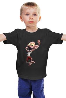 """Детская футболка классическая унисекс """"Обезьянка в галстуке """" - примат"""