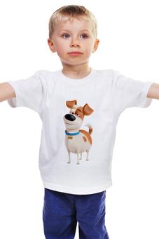 """Детская футболка классическая унисекс """"Макс (Max)"""" - max, макс, тайная жизнь домашних животных, the secret life of pets"""