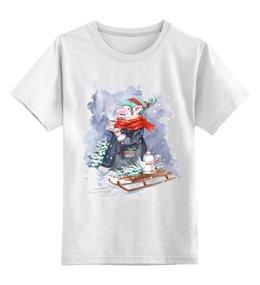"""Детская футболка классическая унисекс """"Теплого чаепития"""" - новый год, свинка, поросенок, свинья символ года, символ 2019"""