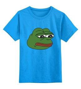 """Детская футболка классическая унисекс """"Грустная лягушка"""" - мем, meme, грустная лягушка, sad frog, pepe frog"""