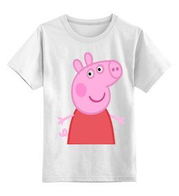 """Детская футболка классическая унисекс """"Свинка Пеппа"""" - мультфильм, свинка, пеппа"""
