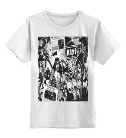 "Детская футболка классическая унисекс ""Хард-рок"" - kiss, кисс, хард-рок"