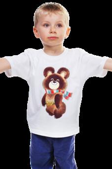 """Детская футболка классическая унисекс """"Русский олимпийский мишка"""" - спорт, олимпиада, мишка"""