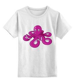 """Детская футболка классическая унисекс """"Осьминожка"""" - лето, море, осьминог, морские обитатели, надувная игрушка"""
