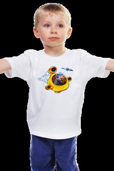 """Детская футболка классическая унисекс """"Вперед в Космос!"""" - круто, планета, космос, полет, детские, детская, на праздник, скорость, детей, ребенку"""