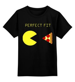 "Детская футболка классическая унисекс ""Пакман"" - pac-man, пицца, пакман"