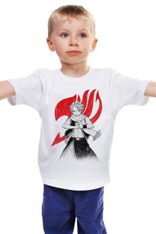 """Детская футболка """"Нацу. Fairy Tail"""" - аниме, манга, fairy tail, хвост феи, нацу"""