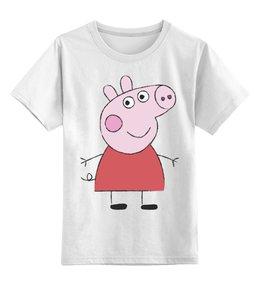 """Детская футболка классическая унисекс """"Свинка Пеппа"""" - свинка, пеппа, пепа, пэпа, пэппа"""