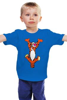 """Детская футболка классическая унисекс """"Тигра"""" - тигра, мультик, тигр, винни-пух, tigger"""