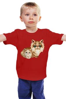 """Детская футболка классическая унисекс """"Кошечки """" - котэ, мультяшные"""