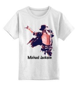 """Детская футболка классическая унисекс """"Michael Jackson"""" - майкл джексон, king of pop, michael jakson"""