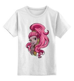 """Детская футболка классическая унисекс """"Монстр хай"""" - девочка, фэнтези, monster high, школа монстров"""