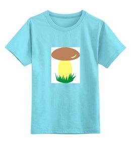 """Детская футболка классическая унисекс """"грибок"""" - гибок, природа, мультики, грибник"""