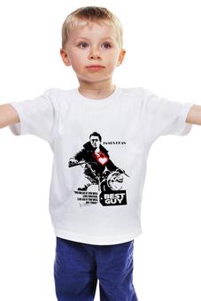 """Детская футболка классическая унисекс """"James Dean Джеймс Дин"""" - стиль, ретро, легенда, джеймс дин, james dean"""