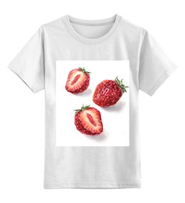 """Детская футболка классическая унисекс """"Клубнички"""" - клубнички ягодки"""