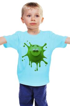 """Детская футболка классическая унисекс """"Монстрик"""" - монстр, клякса, смайлик, улыбка, монстрик"""