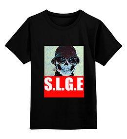 """Детская футболка классическая унисекс """"с.л.г.э"""" - hooligan"""