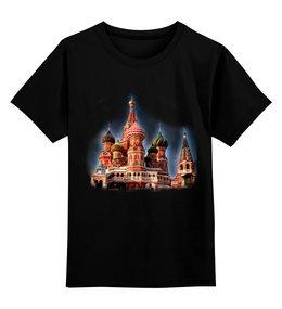 """Детская футболка классическая унисекс """"Москва"""" - арт, москва, город, дизайн, россия"""