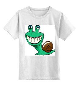 """Детская футболка классическая унисекс """"Улитка"""" - улитка"""
