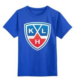 """Детская футболка классическая унисекс """"Хоккей (КХЛ)"""" - хоккей, спорт, зима, кхл"""