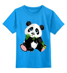 """Детская футболка классическая унисекс """"Мишка Панда"""" - милый, детский, малыш"""