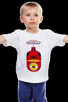 "Детская футболка ""Minion SpiderMan - Человек Паук         "" - супергерои, человек паук, spiderman, миньоны, minions"