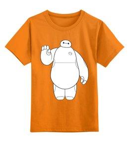 """Детская футболка классическая унисекс """"Баймакс (Город Героев)"""" - бабочки, город героев, big hero 6"""