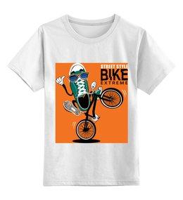 """Детская футболка классическая унисекс """"Без названия"""" - bmx, велосипед, спорт, велоспорт"""