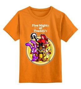 """Детская футболка классическая унисекс """"Five Nights at Freddy's"""" - мультфильмы, игрушки, сыну, куклы, пять ночей у фредди"""