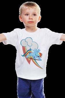 """Детская футболка """"Rainbow Dash give me fun"""" - арт, популярные, прикольные, pony, rainbow dash, mlp, my little pony, пони, dash, magic"""