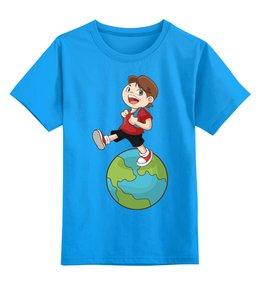 """Детская футболка классическая унисекс """"Школа"""" - мальчик, школа, школьник"""