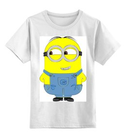 """Детская футболка классическая унисекс """"Миньоны Minions"""" - миньон, minions, гадкий я"""