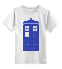 """Детская футболка классическая унисекс """"Tardis (Тардис)"""" - сериал, doctor who, tardis, доктор кто, полицейская будка"""