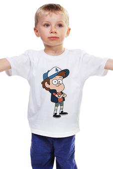 """Детская футболка классическая унисекс """"Dipper                  """" - gravity falls, грэвити фоллс"""