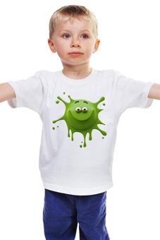 """Детская футболка классическая унисекс """"Улыбчивая клякса"""" - клякса, яркий, улыбчивый"""