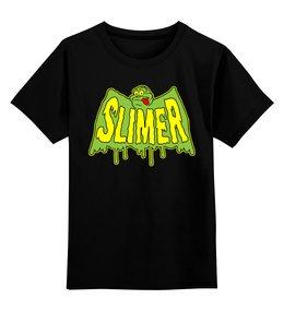 """Детская футболка классическая унисекс """"Лизун (Slimer)"""" - охотники за привидениями, лизун, ghostbusters"""