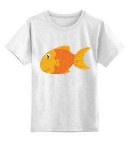 """Детская футболка классическая унисекс """"Золотая Рыбка"""" - животные, море, рыбы, золотая рыбка"""